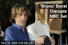 'Bruno' Borat Disrupts NBC Set
