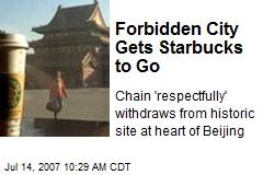 Forbidden City Gets Starbucks to Go