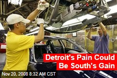 Detroit's Pain Could Be South's Gain