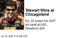 Stewart Wins at Chicagoland