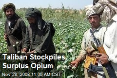 Taliban Stockpiles Surplus Opium