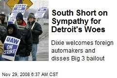 South Short on Sympathy for Detroit's Woes