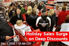 Holiday Sales Surge on Deep Discounts