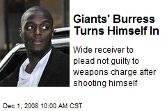 Giants' Burress Turns Himself In