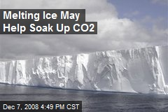 Melting Ice May Help Soak Up CO2