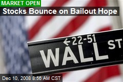 Stocks Bounce on Bailout Hope