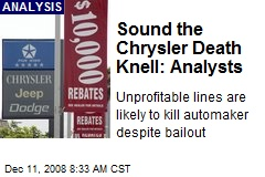 Sound the Chrysler Death Knell: Analysts