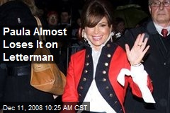 Paula Almost Loses It on Letterman