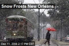 Snow Frosts New Orleans