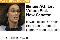 Illinois AG: Let Voters Pick New Senator