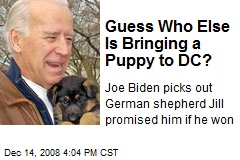 Guess Who Else Is Bringing a Puppy to DC?