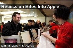 Recession Bites Into Apple