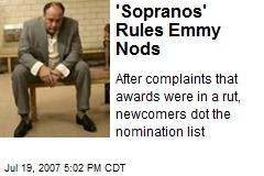 'Sopranos' Rules Emmy Nods
