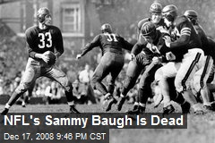 NFL's Sammy Baugh Is Dead