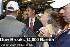 Dow Breaks 14,000 Barrier