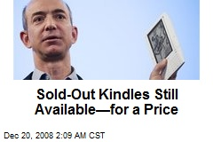 Sold-Out Kindles Still Available—for a Price