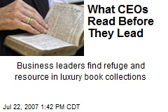 What CEOs Read Before They Lead