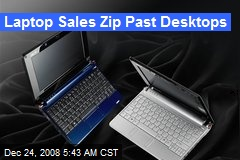 Laptop Sales Zip Past Desktops