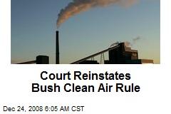 Court Reinstates Bush Clean Air Rule