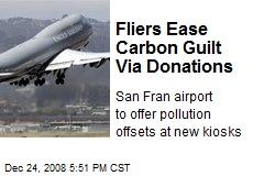 Fliers Ease Carbon Guilt Via Donations