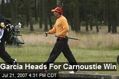 Garcia Heads For Carnoustie Win