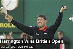 Harrington Wins British Open