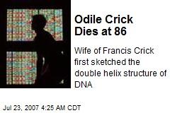 Odile Crick Dies at 86