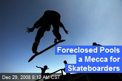 Foreclosed Pools a Mecca for Skateboarders