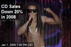 CD Sales Down 20% in 2008