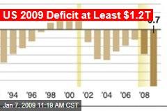 US 2009 Deficit at Least $1.2T