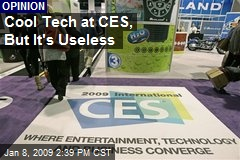 Cool Tech at CES, But It's Useless