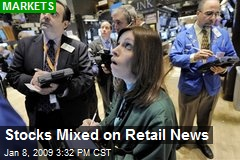 Stocks Mixed on Retail News