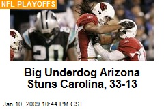 Big Underdog Arizona Stuns Carolina, 33-13