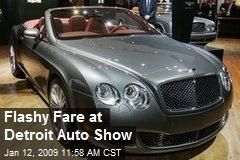 Flashy Fare at Detroit Auto Show