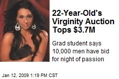 22-Year-Old's Virginity Auction Tops $3.7M