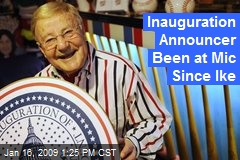 Inauguration Announcer Been at Mic Since Ike