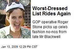Worst-Dressed List Rides Again