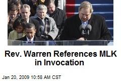 Rev. Warren References MLK in Invocation