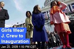 Girls Wear J. Crew to Inauguration