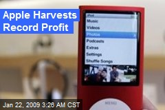 Apple Harvests Record Profit