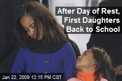 After Day of Rest, First Daughters Back to School