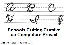 Schools Cutting Cursive as Computers Prevail
