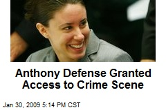 Anthony Defense Granted Access to Crime Scene
