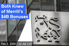 BofA Knew of Merrill's $4B Bonuses