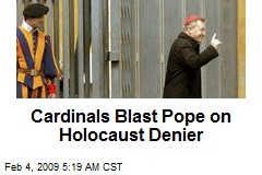 Cardinals Blast Pope on Holocaust Denier