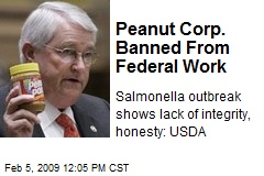Peanut Corp. Banned From Federal Work