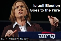 Israeli Election Goes to the Wire