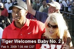 Tiger Welcomes Baby No. 2
