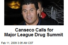 Canseco Calls for Major League Drug Summit