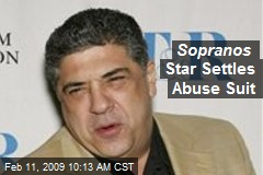 Sopranos Star Settles Abuse Suit
